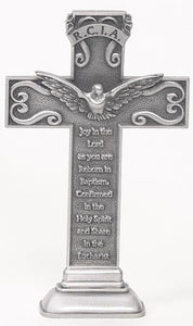 "5"" PEWTER/RCIA STANDING CROSS - JC-5503-E - Catholic Book & Gift Store"