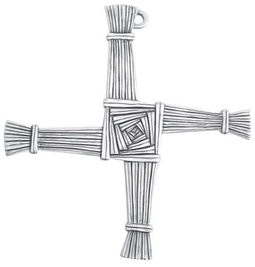 "5"" FINE PEWTER ST BRIDGID'S CROSS - JC-8498-E - Catholic Book & Gift Store"