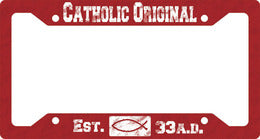 PLASTIC LICENSE PLATE FRAME/CATHOLIC ORIGINAL - LPPF-21 - Catholic Book & Gift Store
