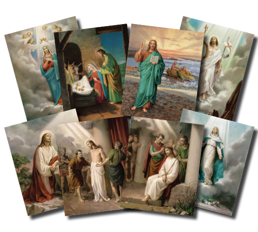 4X6 MYSTERIES OF THE ROSARY PRINTS - POS-1468 - Catholic Book & Gift Store