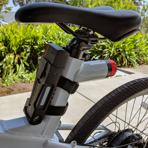 ABUS Keyed Folding Lock uGrip Bordo 5700 mounted on Flash v1 electric bike