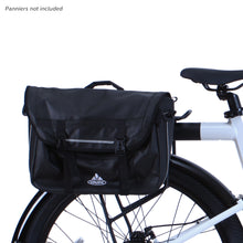 Flash Commuter rack with panniers side view