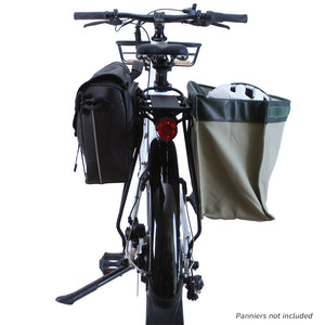 Flash Commuter rack with panniers rear view