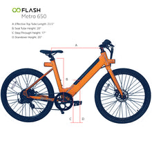 Flash Metro 650 Sizing Measurements