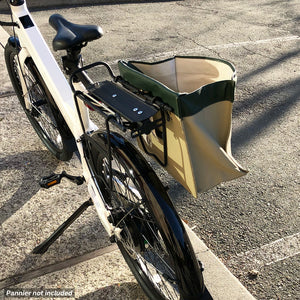 Clash custom bike rack with pannier support