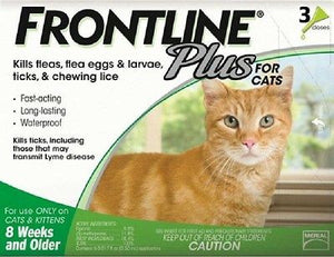 Frontline Plus for Cats and Kittens - 3 Pack
