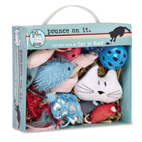 Cat is Good Pounce on It 12-Piece Gift Pack-rattle, catnip mice, balls, CAT Toys