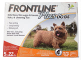 Frontline Plus for Small Dogs 5-22 lbs. - 3 Pack