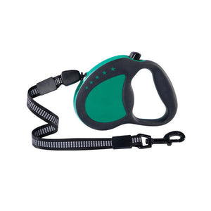 Guardian Gear Corded Retractable Reflective Leash / Lead All Sizes - Green