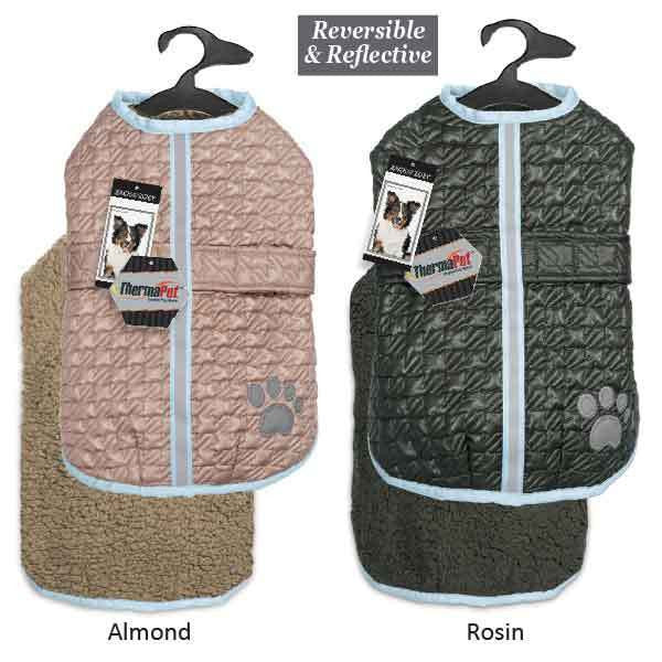 Zack & Zoey Dog Warm Reversible Reflective Waterproof Thermal NorEaster Coats / Jackets