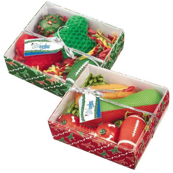 Grriggles Holiday Dog Gift Sets - Squeaky Toys, Squeaky Balls