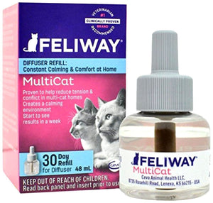 CEVA Animal Health Feliway MultiCat 30 Day Refill Diffuser 48ml Pheromone