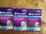 3 Pack  Feliway 30 Day Refill Diffuser 48ml Pheromone