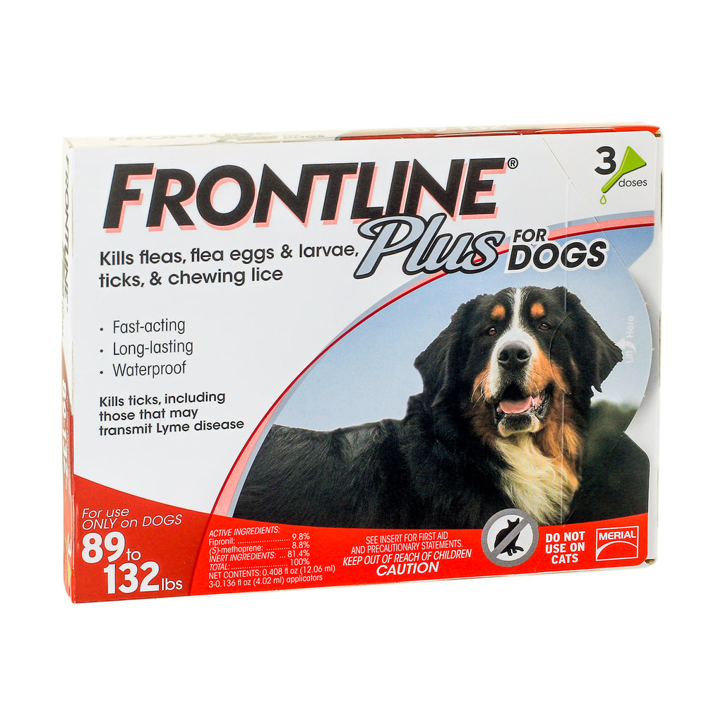Frontline Plus for Extra Large Dogs 89-132 lbs. - 3 Pack
