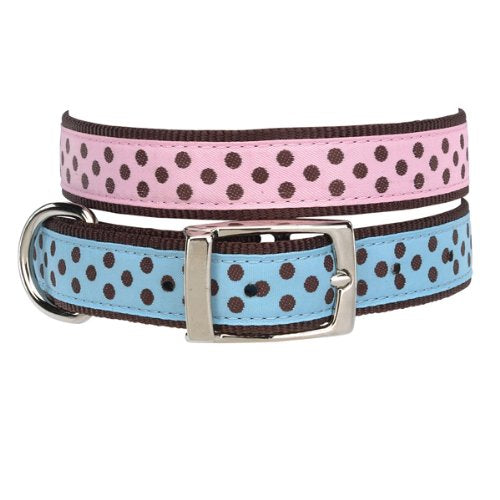 East Side Collection Dog Nylon Pastel Polka Dot Collar