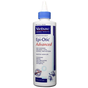 Virbac Epi-Otic Advanced Ear Cleaner for Dogs, Cats, Puppies, and Kittens - 8 oz.