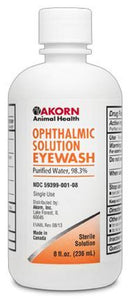 Akorn Animal Health Opthamlic Pure EyeWash 4 oz for Pets - Dogs, Cats