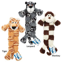 Grriggles Safari Squeaktaculars Dog Toys Tigers, Monkeys, Leopards Plush Toys
