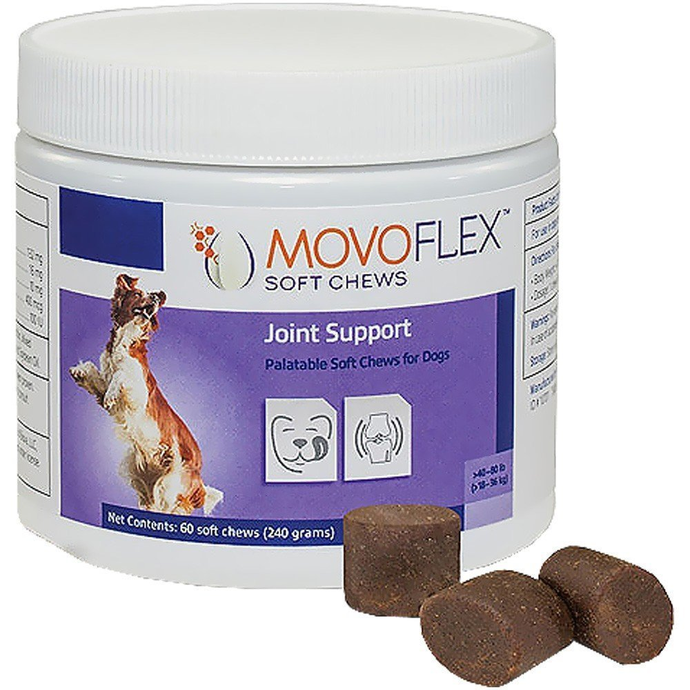 MovoFlex Joint Support Soft Chews for Medium Dogs Over 40-80 lbs by Virbac (60 Chews)