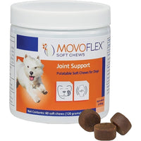 MovoFlex Joint Support Soft Chews for Small Dogs up to  40 lbs by Virbac (60 Chews)