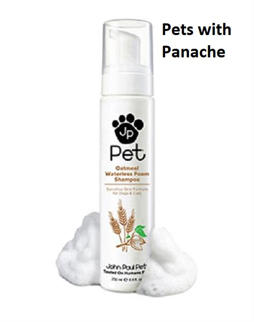 John Paul Pet Oatmeal Waterless Foam Shampoo for Dogs and Cats - Sensitive Skin 8.5 fl. oz.