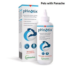 Vetoquinol pH-notix Ear Cleaner and Wax Remover for Cats & Dogs 4 oz