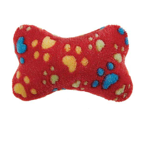 Zanies Ruff N' Tumble Bones Dog Toys  - 12 inches long - Red / Blue / Pink
