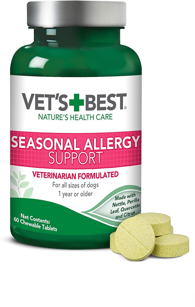 Vet's Best Dog Seasonal Allergy Support 60 Chewable Tablets for Dog Allergies