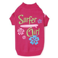 Casual Canine Surfer Girl T-Shirt for Dogs