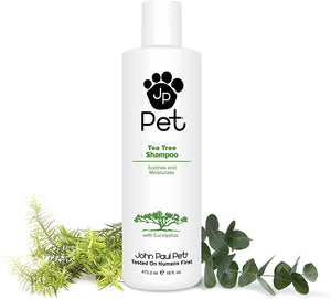 John Paul Pet Tea Tree Shampoo for Pets, Dogs, Cats - Soothes and Moisturizes 16 oz.