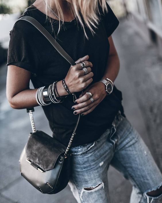 12 Ways to Style a Black Tee