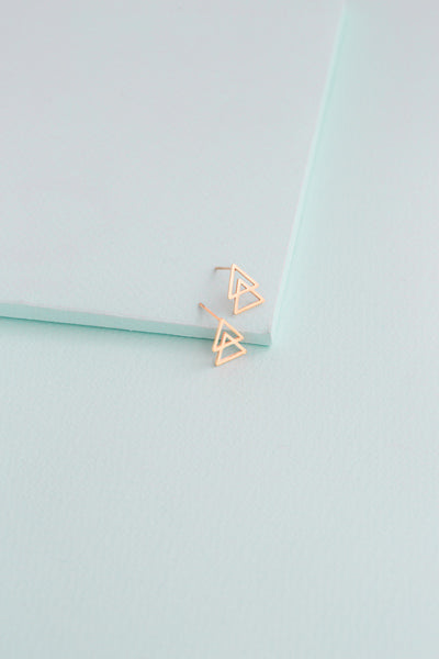 One Way Triangle Earrings