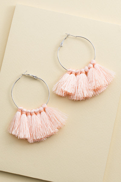 Beach Breeze Tassel Hoops