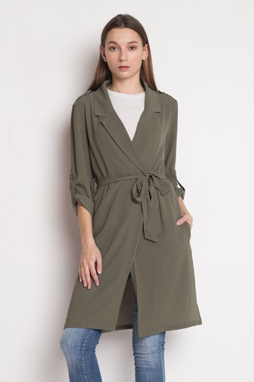 Tied Up Olive Duster