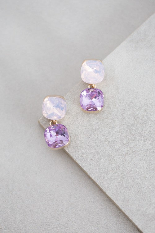 Lavender Drop Earrings