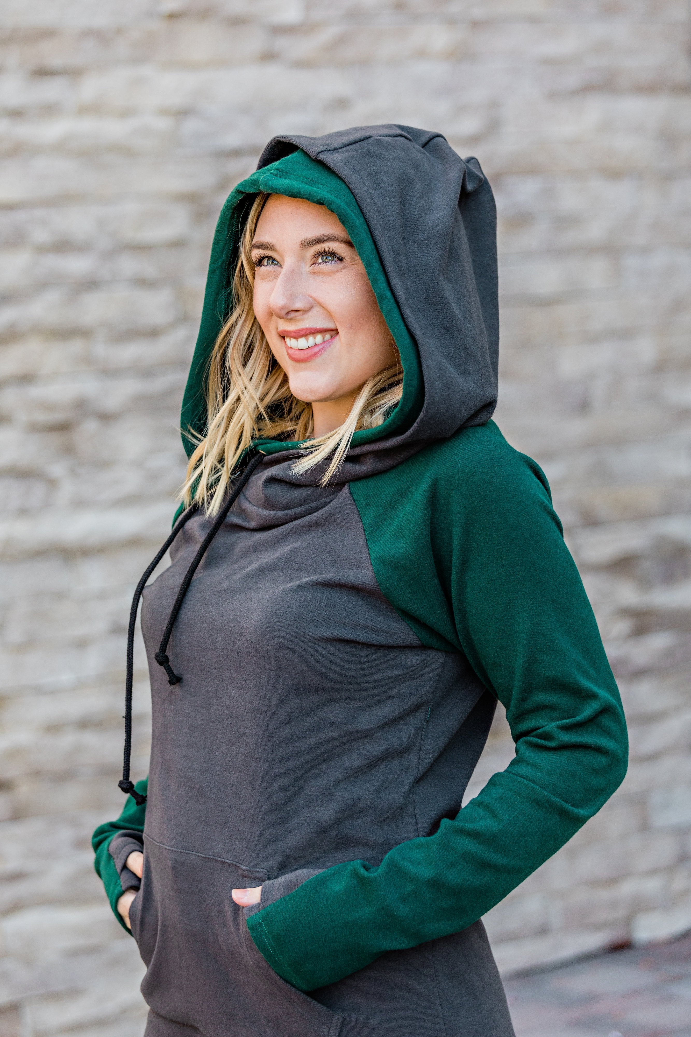 10.15 Arrival Charcoal and Dark Green Double Hoodie COMING SOON