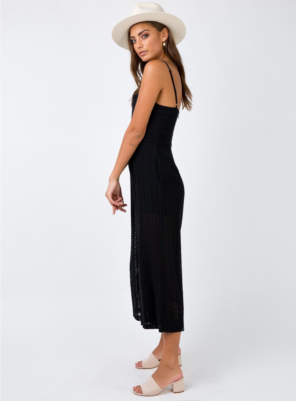 Sofie Black Cropped Jumpsuit
