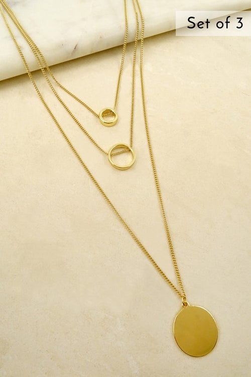 Circles for Days Gold Necklace