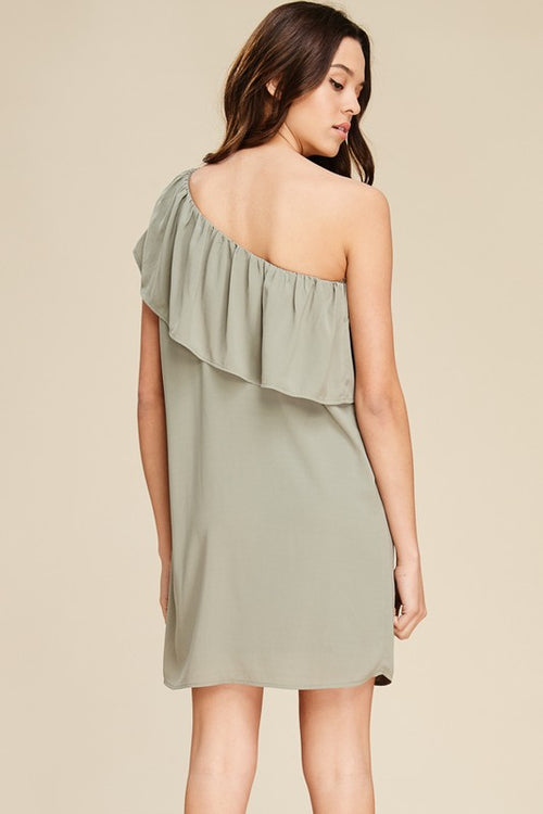 Bondi Sage One Shoulder Dress