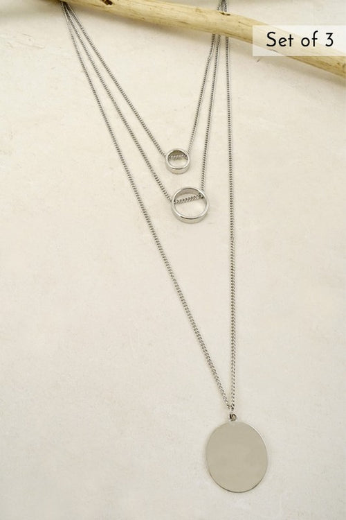 Circles for Days Silver Necklace