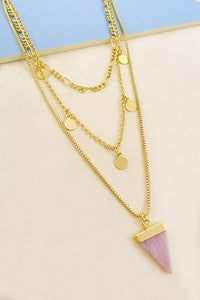 Long Lines Gold Necklace