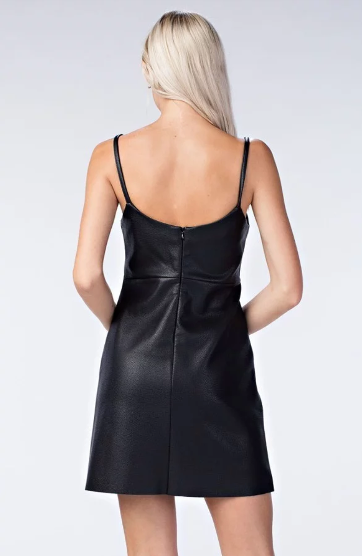 Whatever The Leather Dress - Simple & Feminine