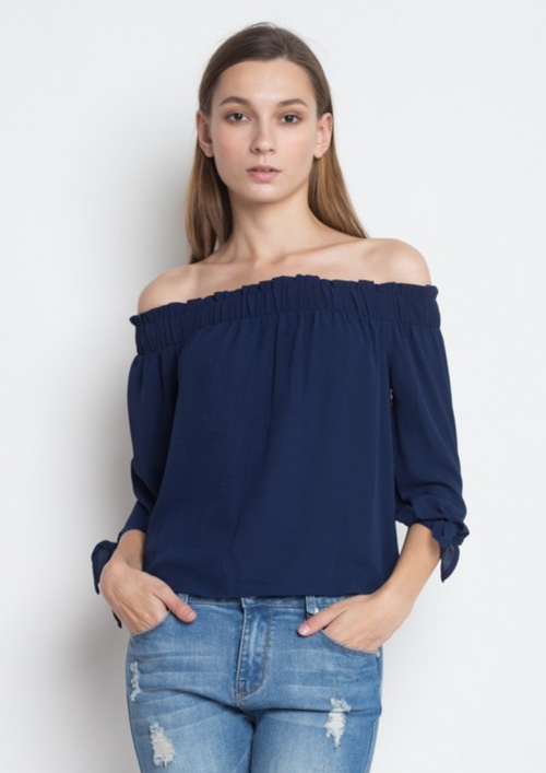 Brunch Babe Navy Top
