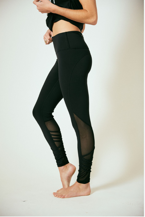 Lift it Black Cross Leggings