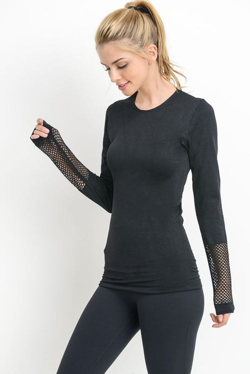 Luna Mesh Detailed Top