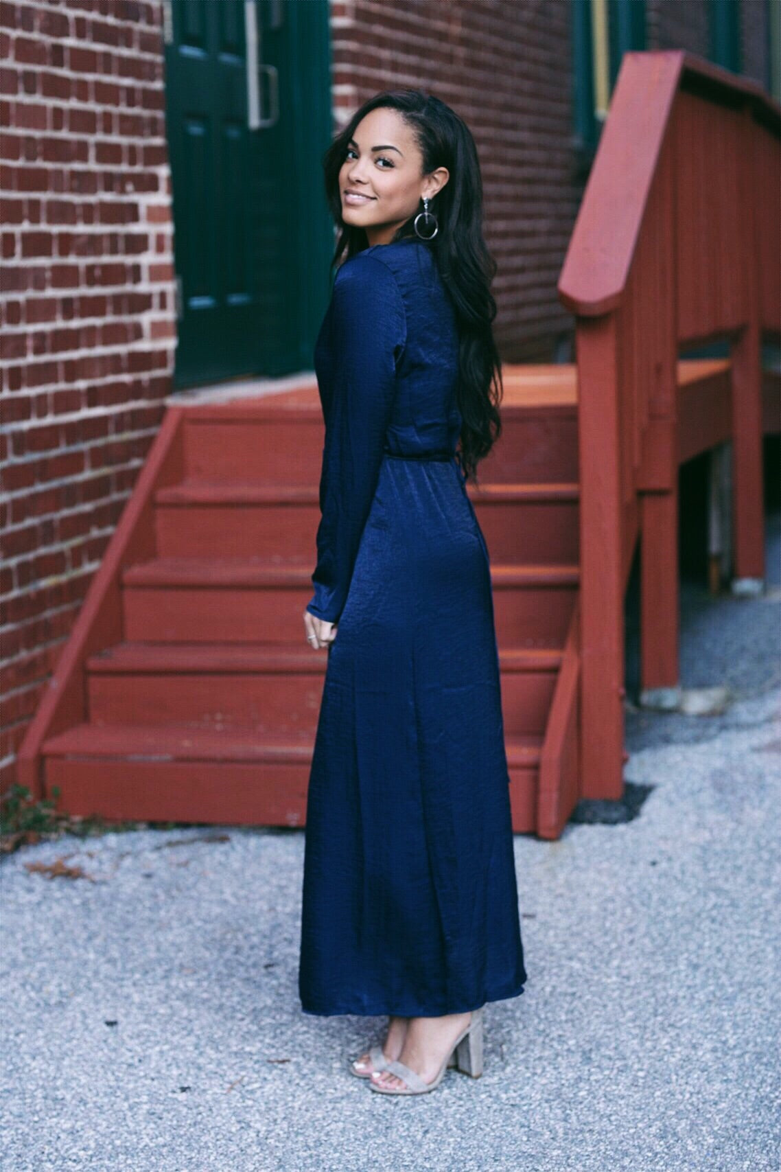 Jordi Navy Wrap Dress
