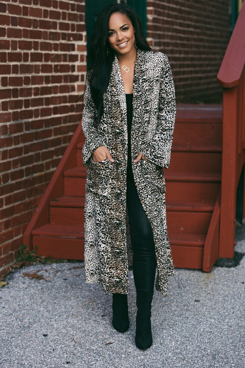 Valentina Leopard Duster