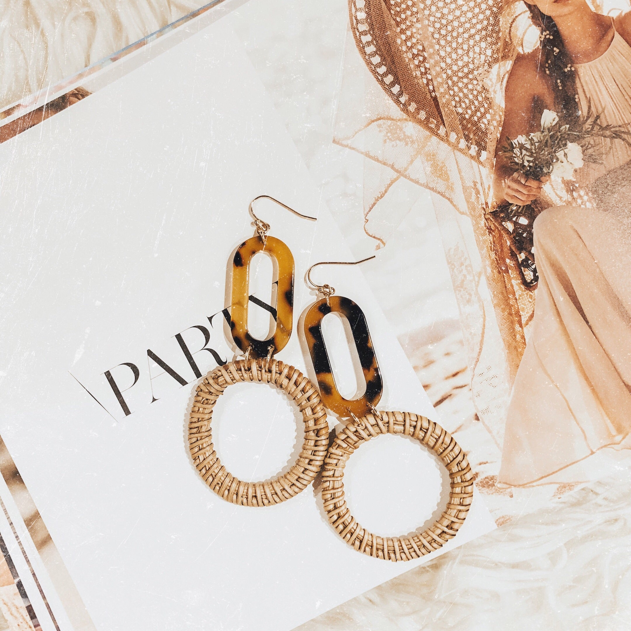 Golden Rays Earring