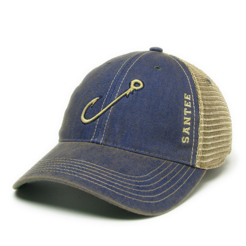 Santee Fishing Hook Mesh Trucker Hat - ADI01100