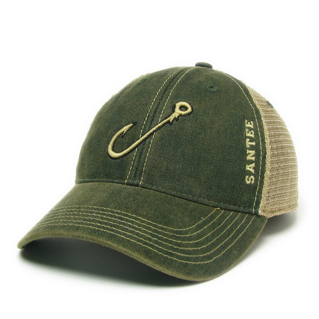 942b6c25fa4 Santee Fishing Hook Mesh Trucker Hat - ADI01100 - South Carolina ...
